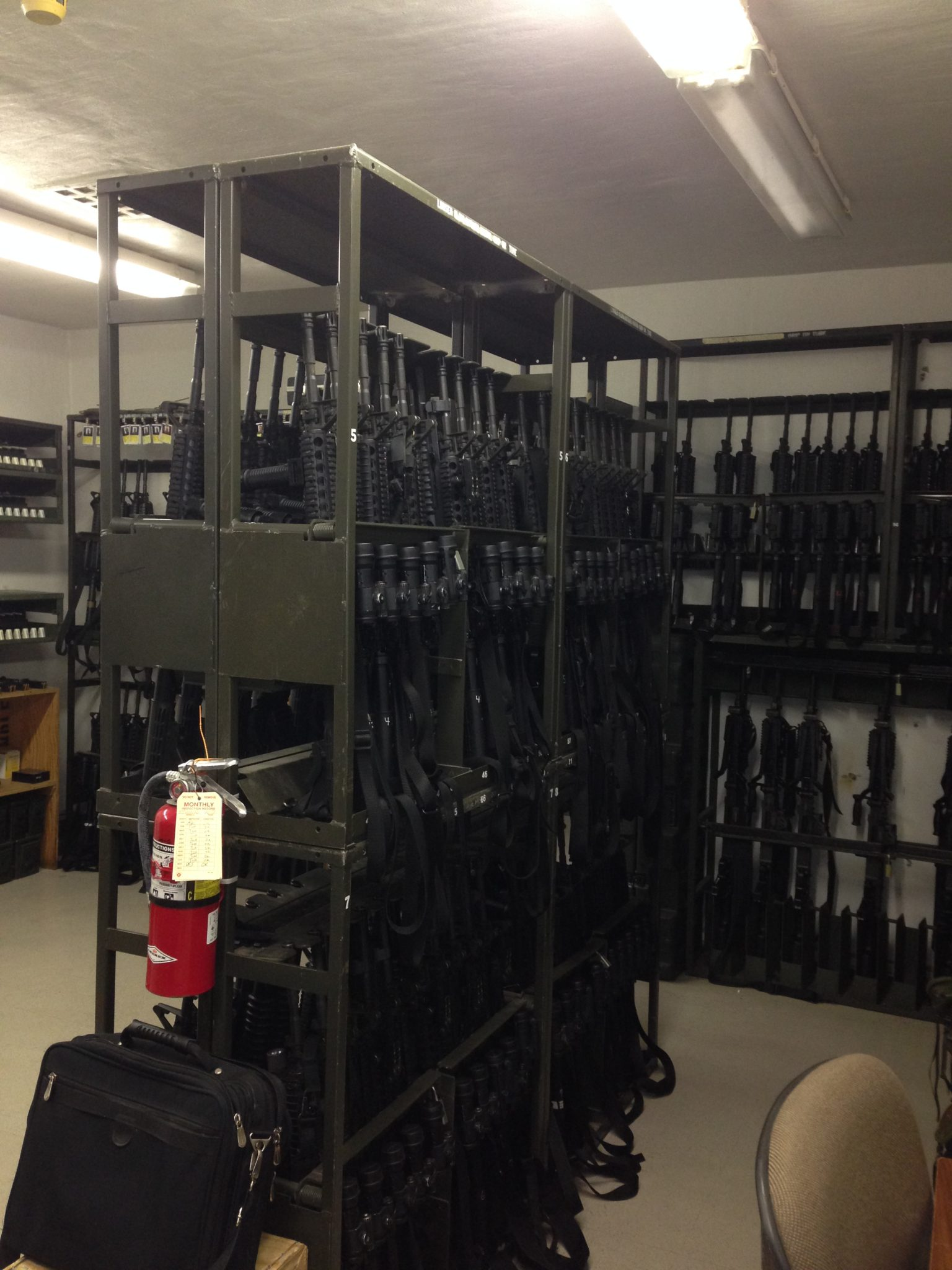 Company Arms Room Weapon Racks