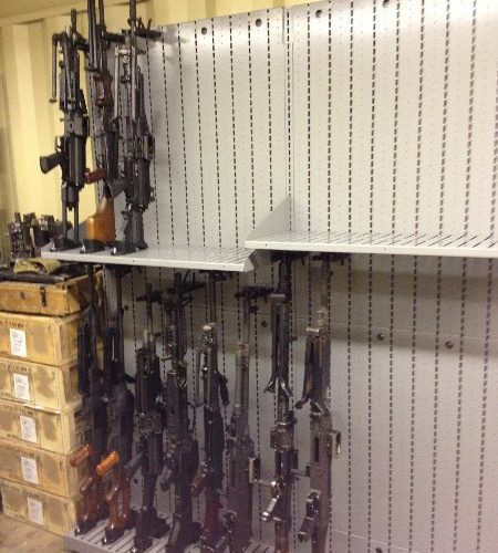Machine Gun Weapon Shelving