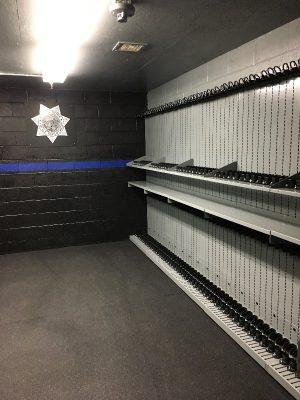 Weapon Shelving Law Enforcement Armory