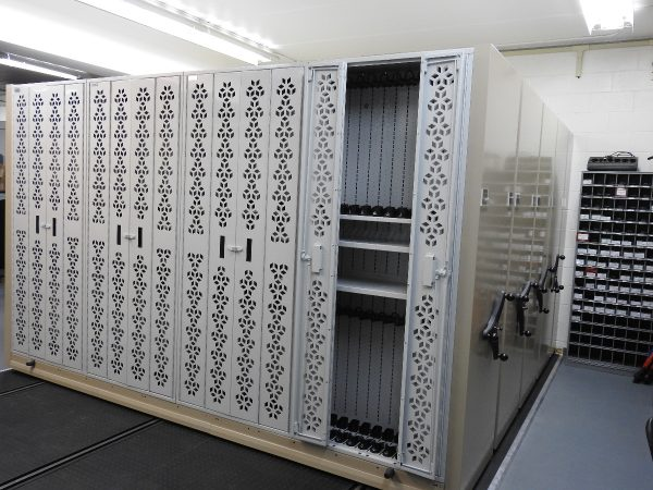Mobile Weapon Storage System with steel end panels