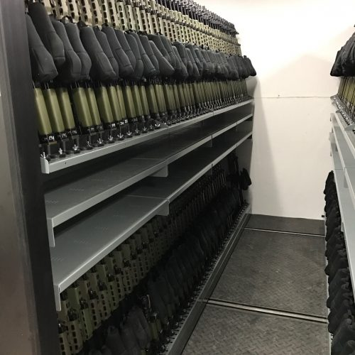 Mobile Weapon Shelving Systems