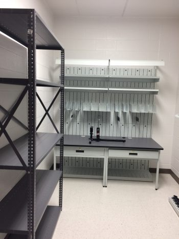 Industrial Armory Weapon Storage Shelving