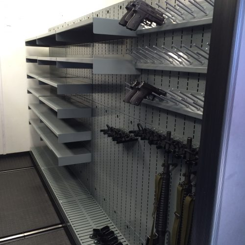 Weapon Shelving on Mobile Carriages