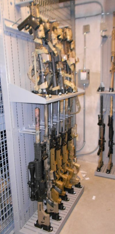 M110 Weapon Shelving - Weapon Storage for Semi Automatic Weapons