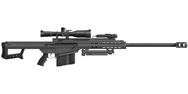 M107 - Long Range Sniper Rifle - Rifle Storage - Semi-Automatic Weapon Storage