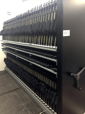 Combat Weapon Storage Systems - Mobile Weapon Shelving Systems - Combat Weapon Storage