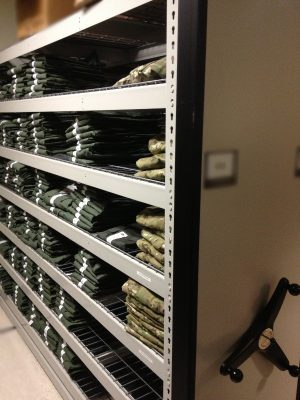 Weapon Shelving System - Uniform Storage - Military Gear Storage - Mobile Uniform Storage System
