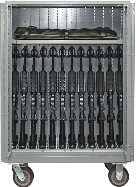 """44"""" H Combat Weapon Cart - M4 with Shelving"""