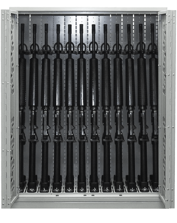 "44"" H Combat Weapon Rack - M16 Machine Guns"