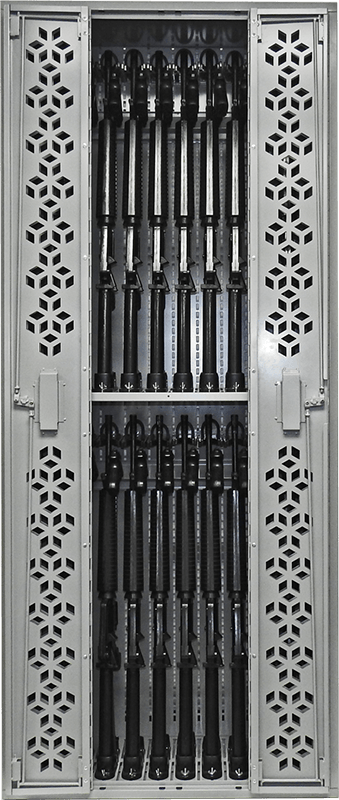 "85"" H Combat Weapon Rack - M16 & Pistols - 3"
