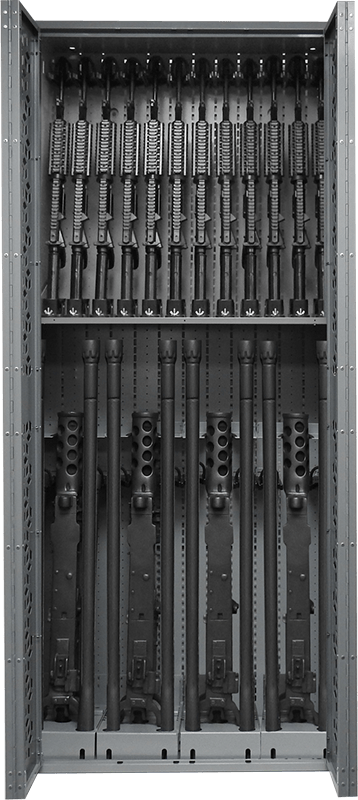 "85"" H Combat Weapon Rack - M4 & M2"