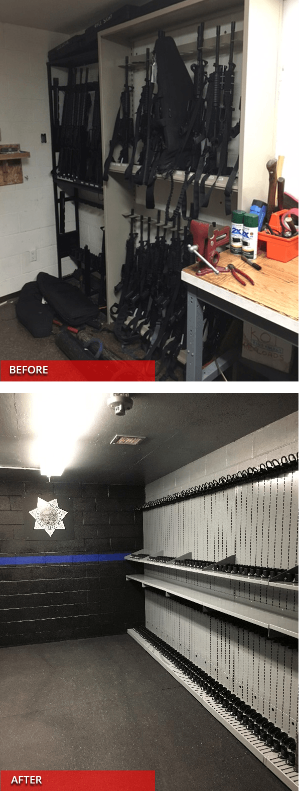 Arms Room Before & After