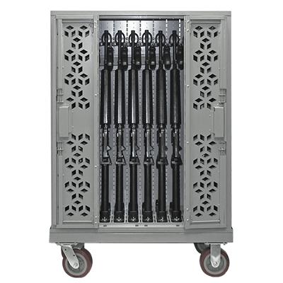 Combat Mobile Weapon Racks - Locked Cart