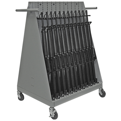 Combat Weapon Storage Systems - Mobile Weapon Racks - Open Cart