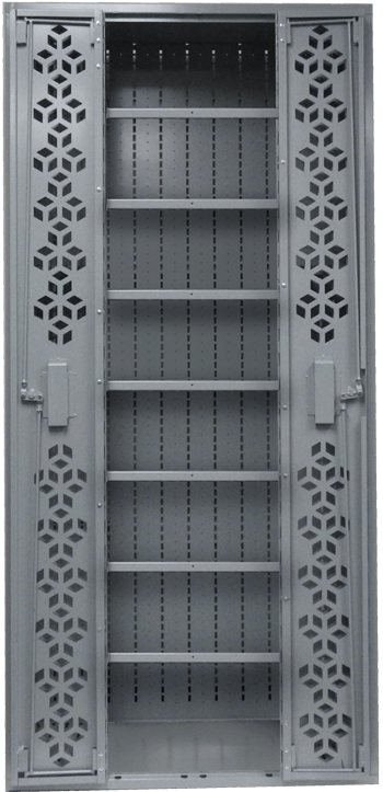Combat Weapon Rack - 76 Inch Weapon Rack -Weapon Shelving