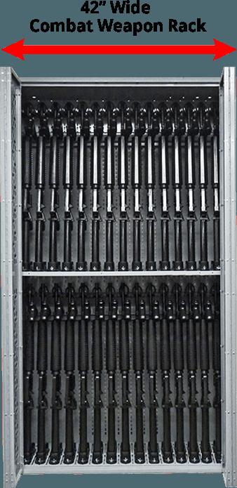 42 Inch Wide Combat Weapon Rack
