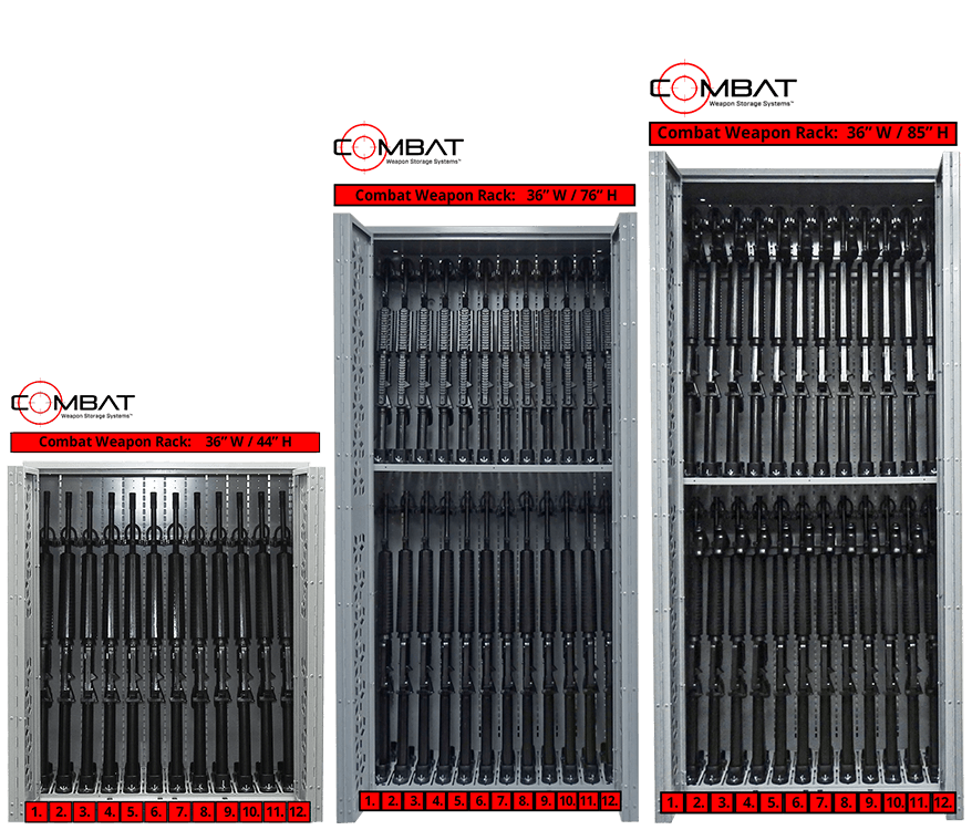 Combat Weapon Racks - 36 in W - 44-76-85 in H