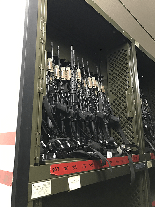 Combat Weapon Storage - Replacing Legacy Space Saver Universal Weapon Racks