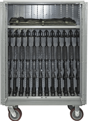Secure Weapon Carts - Weapon Storage