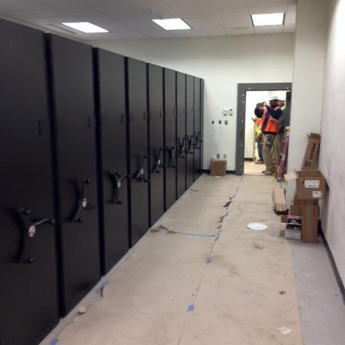 Mobile Weapon Rack MILCON installation