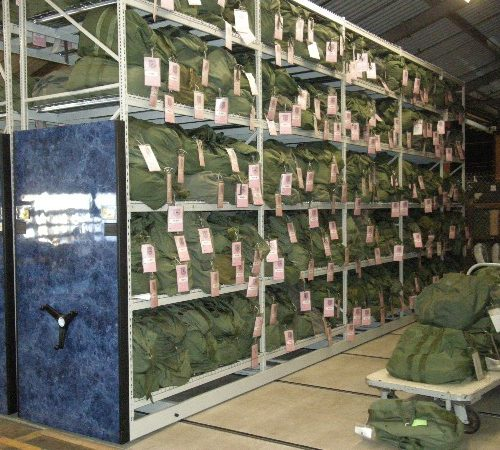 Mobility Bag Mobile Shelving - Military Bag Storage - Gear Storage - Military Surplus Storage