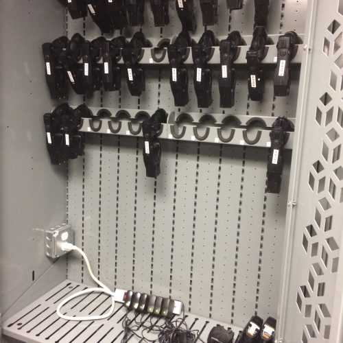 Powered Taser Storage Weapon Rack