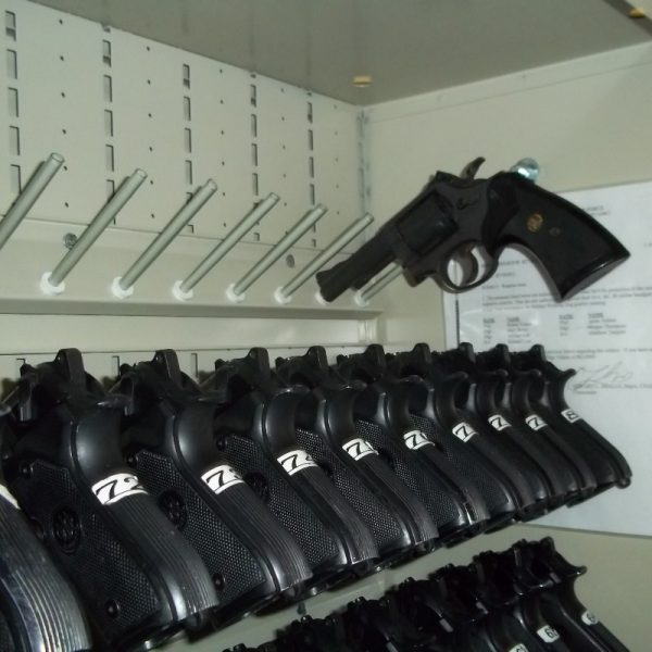 Straight Line Pistol Peg Weapon Rack