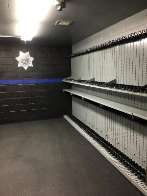 Weapon Shelving Law Enforcement Armory