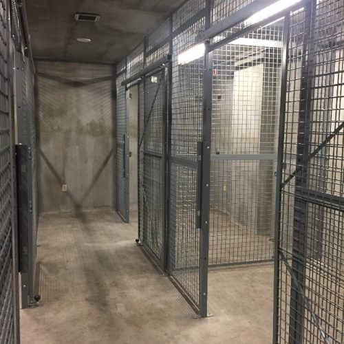 Welded Wire Armory Cage Installation