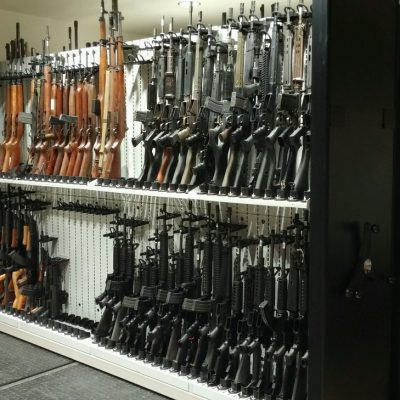 Forensic Firearm Lab Weapon Storage System