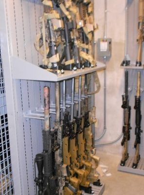 special forces group weapon storage cage