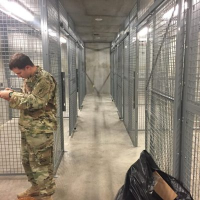 Army Weapon Cage Installation - Weapon Storage Cages
