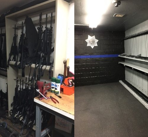 weapon storage before and after