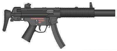 Heckler & Koch MP5 - Submachine Gun Weapon Rack - Submachine Gun Weapon Cabinet