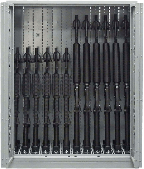 "44"" H Weapon Rack - M4 & M16 Machine Guns"
