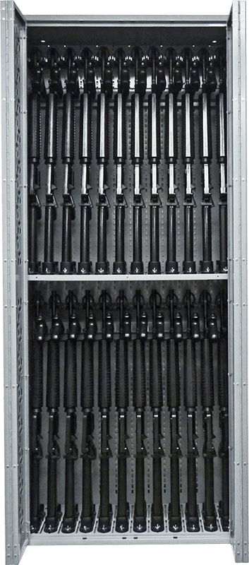 "85"" H Combat Weapon Rack - M16 Machine Guns"