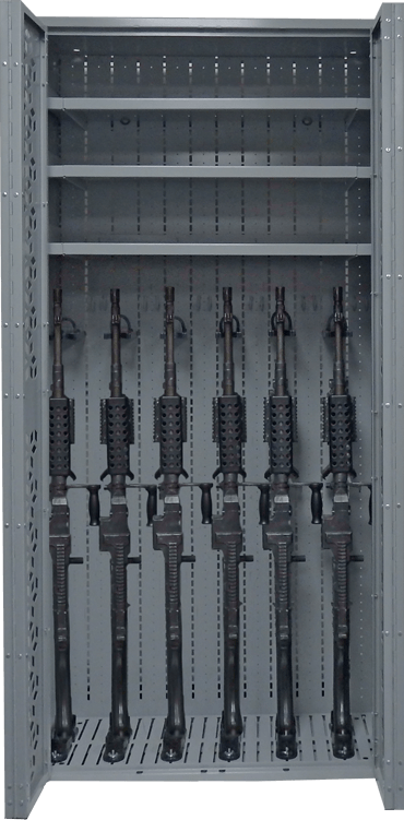Combat Weapon Rack - 76 Inch- Machine Guns - M240 Storage