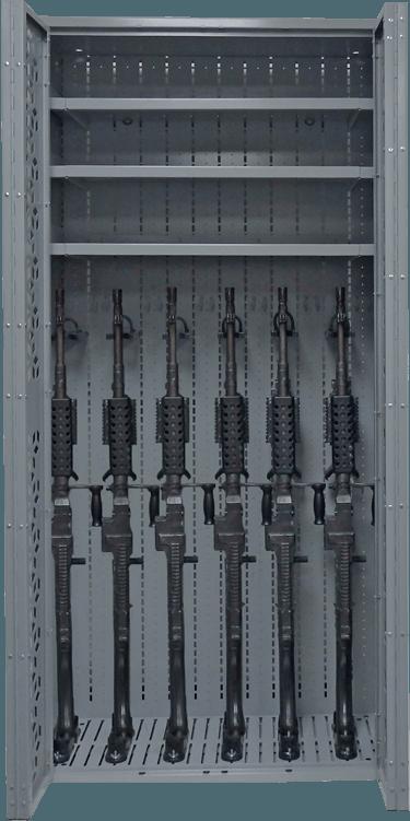 Combat Weapon Rack - 76 Inch- Machine Guns - M240 Storage