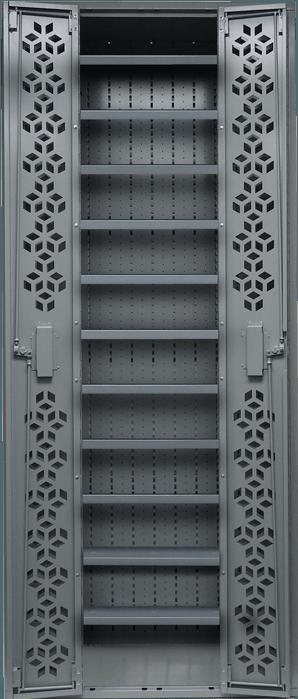 Combat Weapon Rack - 85 Inch - Adjustable Shelving