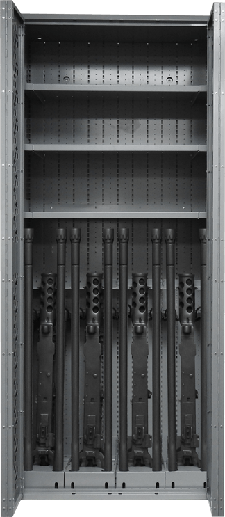 Combat Weapon Rack - 85 Inch - M2 with Spare Barrels