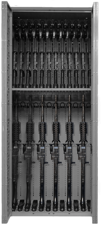 Combat Weapon Rack - 85 Inch - M240 & M4