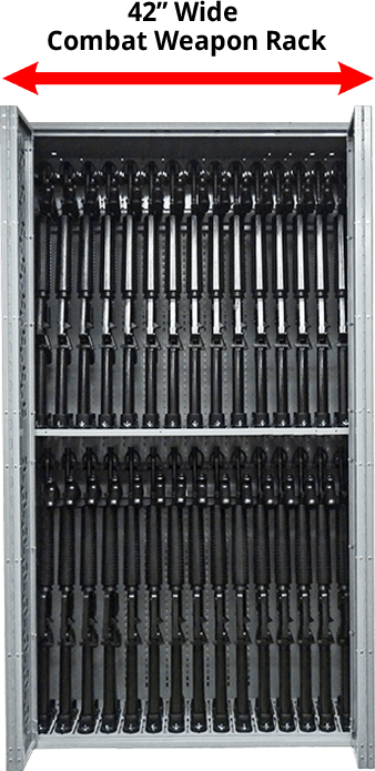 42 Inch Wide Combat Weapon Rack