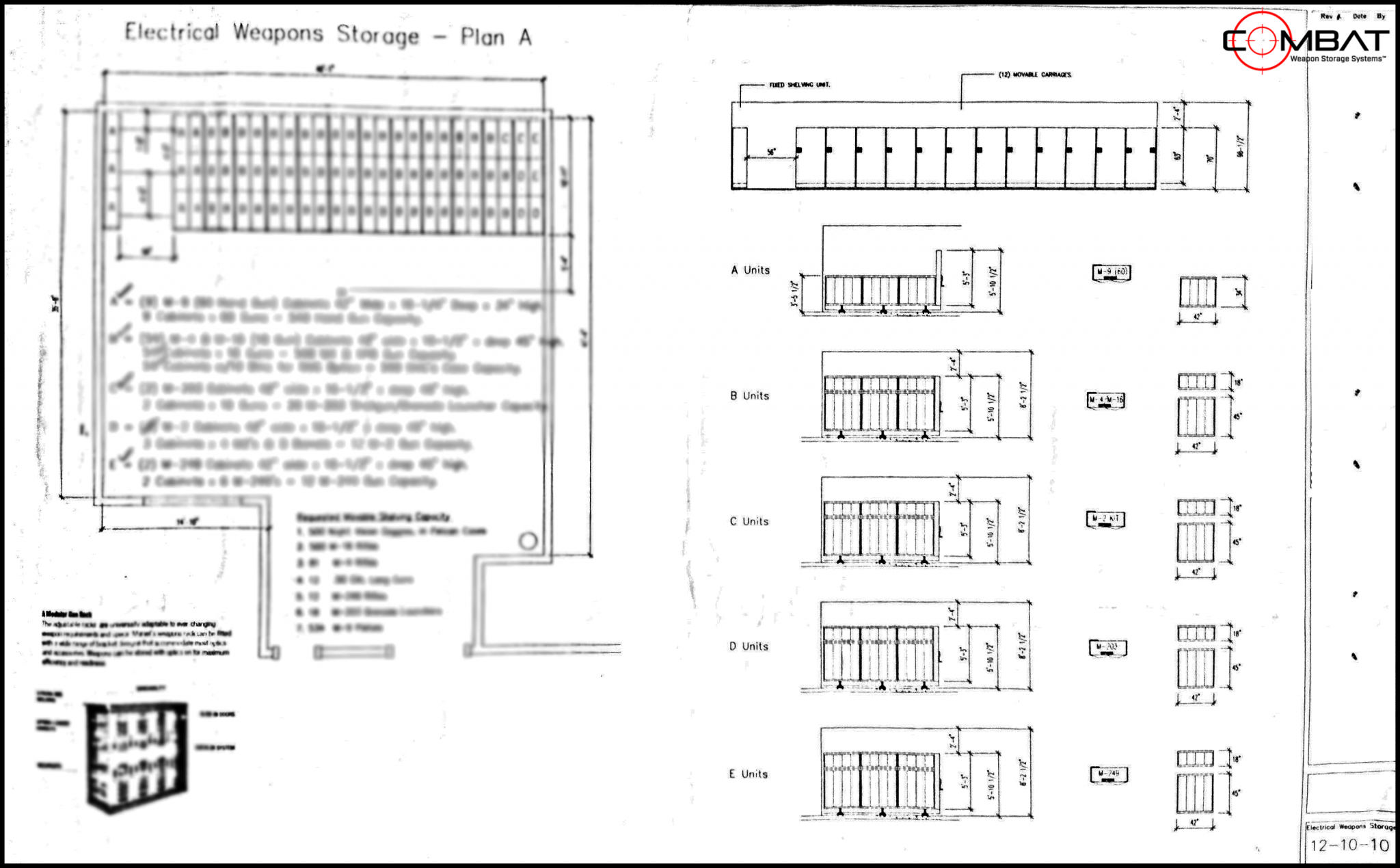 Armory Planning - Weapon Storage