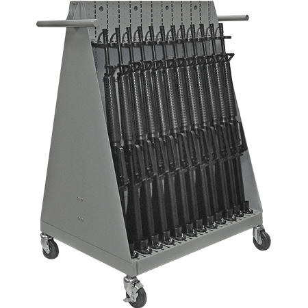Weapon Cart Capacity - Mobile Transport Weapon Storage