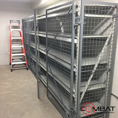 Consolidated Arms Rooms -Firearms Storage - Secure Military Weapons Shelving