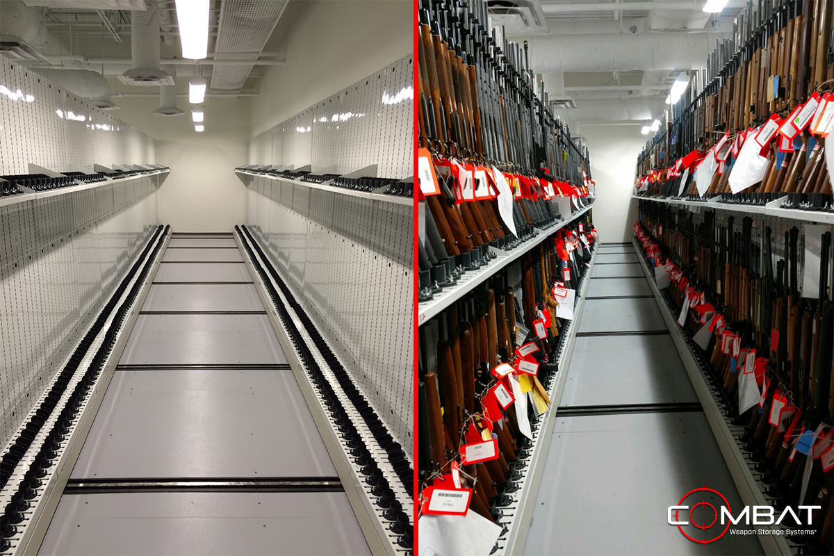 High Capacity Armory Storage - High Density Weapon Storage Systems