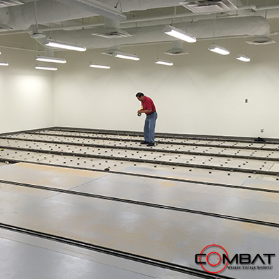High Capacity Armory Storage - High Density Weapon Storage System Install
