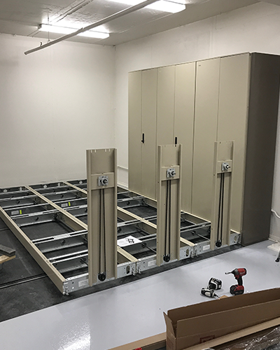 High Density Weapon Storage System Installation