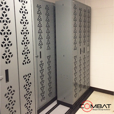 Lateral Mobile Weapon Storage System -Sliding Armory Storage - Weapon Storage System