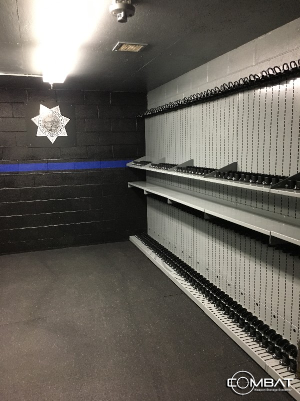 Weapon Shelving Storage for Police Departments